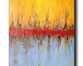 Original Large Abstract painting - 24 X 36 -by Artist JMJartstudio- rise above-Wall art FREE US Shipping -Oil painting - Textured