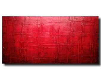 Original Abstract Large painting - 24 X 48  JMJartstudio- Sinful -Wall art-wall decor - painting--