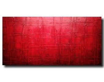 Original Abstract Large painting - 24 X 48  JMJartstudio- Sinful -Wall art-wall decor - painting--