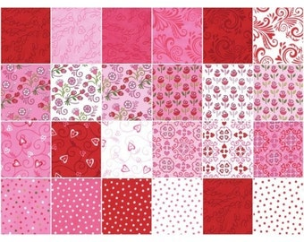 Always and Forever Fat Quarter Bundle by Deb Strain for Moda - Valentine quilt fabric