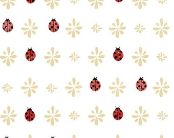Sale up to 40% off Sale Lady Bug Blooms by Anne Bollman Collection for Clothworks a low volume quilt cotton