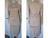Vintage 1960s gold lame sweater dress
