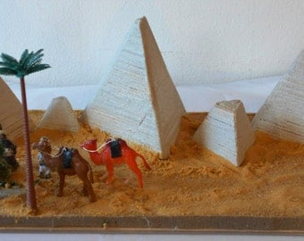 Pyramid Replica Historical Landmarks Decor for the Home Artwork OOAK Art
