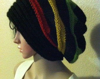 Rastafarian Slouchy - fashionable beanie/hat & boot Toppers FREE Shipping in US