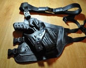 Farscape PK Pulse Pistol Holster. 100% genuine leather w/Premium leather belt +metal buckle. Made to order in USA. replicas,costume, cosplay