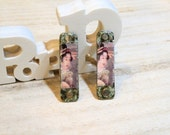 2 charms poppy - brass and paper - for jewel creations romantic for earrings necklace bracelet geisha