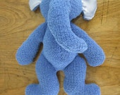 Simple Knit Soft Toy Elephant