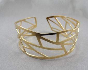 Geometric cuff bracelet, geometric bracelet, geometric jewelry, geometric bangle