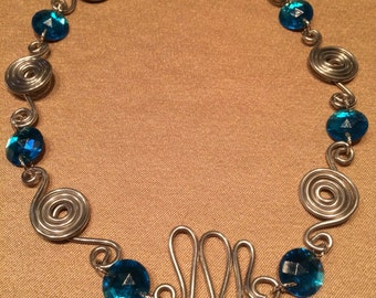Silver Wirework with Turquoise Antique Beads