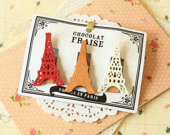 Decole Eiffel Tower Chocolat Fraise Pegs Clips