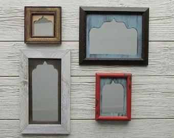 vintage mirror - Rustic Red - feng shui