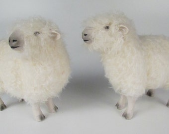 Handcrafted English Devon and Cornwall Sheep Figure