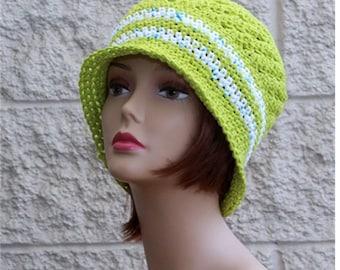 Womens Cotton Hat  Bucket Hat   Flapper Hat Brim Hat   Summer  Hat  Sun Hat  Beanie Chemo Hat
