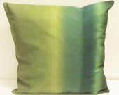 Green Marimekko pillow cover in Poukama fabric Finland, accent pillow cover, buy one, get 30% off the second one FREE SHIPPING Canada and US