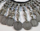 Old VTG Afghanistan Kuchi Pashtun Afghani (100 Puls) Coins Necklace