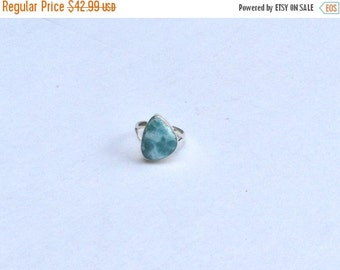 ON SALE Larimar Jewelry Larimar Ring Size 8 Sterling Silver 925 Turquoise jewelry fashion jewelry