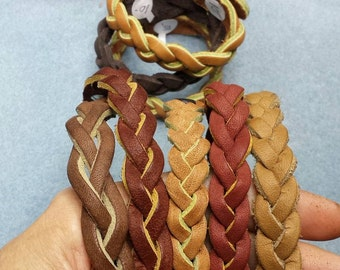 Mystery Weave Leather Bracelets in Assorted Colors size 7