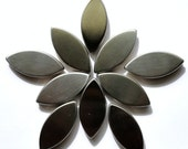 "Stainless Steel Oval Petal Shaped Mosaic Tiles 3/4""// Metal Tiles//Mosaic Supplies//Mosaic//Crafts"