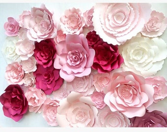 Large Paper Flower Wall, large paper flower backdrop, giant paper flowers, paper flower backdrop, photo shoot props, paper flower decor