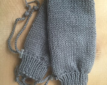 Adaptive Thumbless Adult Mittens Special Needs Disabled Teen or Adult Gray - Mittens for Elderly - CP