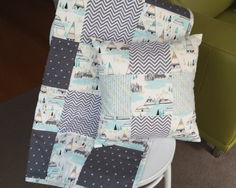 teepee cot quilt and cushion cover