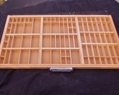 Vintage letterpress type tray, printers type box or type drawer that looks unused or almost new
