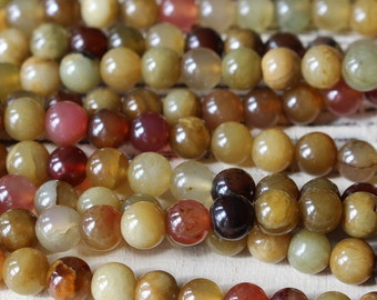 8mm Round Gemstone - Mala Bead Supply - Jewelry Making Supplies - 8mm Round Soo Chow Jade - Choose Amount