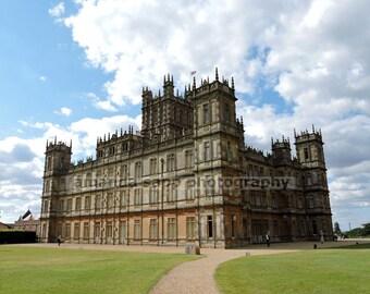 Downton Abbey Highclere Castle color photograph