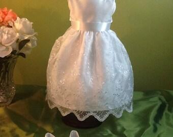 Flower Girl Dress for American Girl Doll - Wedding - First Communion - Custom Made