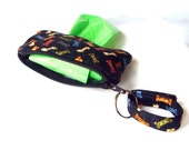 Poop Bag Dispenser for Leash or Collar in Yummy Treats Print
