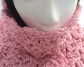Etsy Gifts, Breast Cancer Awareness Month, Crochet Chunky Cowl Scarf, Crochet Infinity Scarf, Crochet Women Scarf, Crochet Supersoft Scarf