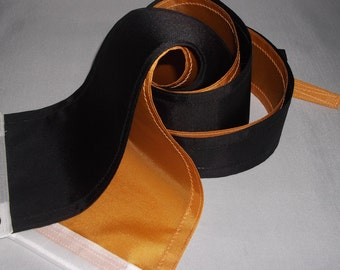Nautical Masthead Streamers Black and Gold   Dynamic Duo Ready to Ship