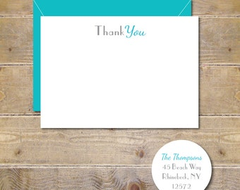 Thank You Cards, Thank You Card Set, Set of Thank You Cards, Greeting Cards, Thank You Notes, Thank You Note, Wedding, Bridal Shower, Baby