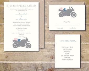 Motorcycle Wedding Invitations, Motorcycles,  Wedding Invites,  Modern Wedding, Wedding Invitations, Invitations, Bikes