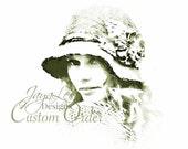 Custom Order for Jennifer - Red Velvet Cloche Hat