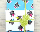 gee whiskers series: birthday cat wrapping paper