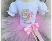 Ballerina Gold and Pink Tutu Outfit