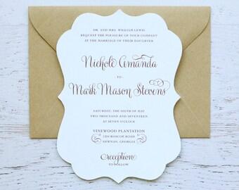 Nichole Custom Wedding Invitation