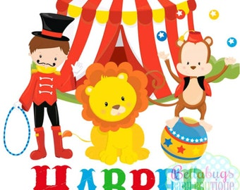 Circus PRINTABLE Digital Iron-On Transfer Design - Personalized - DIY - Do It Yourself