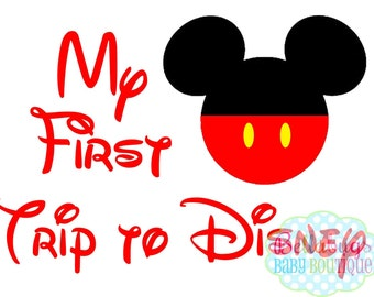 My First Trip to Disney IRON ON TRANSFER-  Mickey Mouse - Disney