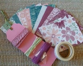 "BONUS DIY Stampin' Up! Kit ""Bloom & Bliss"" DSP and Ribbon Sampler, Floral Pattern Papers and Ribbon, twine"