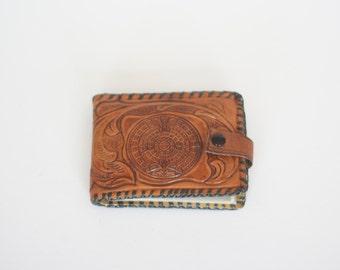 vintage tooled leather billfold