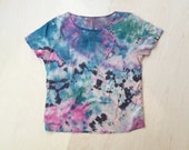 Pastel Tropical Hand Dyed Cotton Top