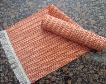 Handwoven Table Runner - Orange