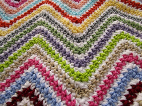 Crochet Afghan Pattern Maker : Crochet Afghan Pattern Chevron Crochet Pattern by ...