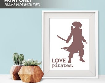 LOVE PIRATES - Art Print (Featured in Cocoa) Love Nautical Art Print and Poster Collection