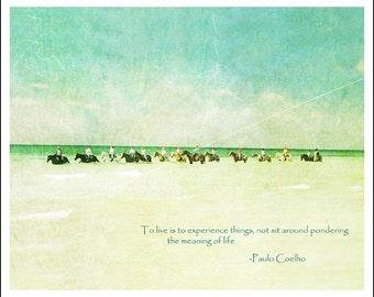 Beach art, Horse art, inspriational poster, coastal art print, Bahamas art, nature photography