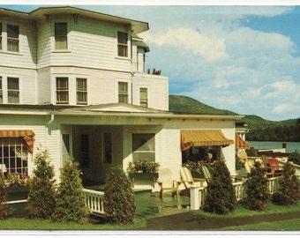 The Homestead Sun Deck Lake Placid Adirondack Mountains New York 1969 postcard