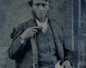 Tintype - Occupational - Ye Olde Carpenter / Cabinet Maker w/ His Tools