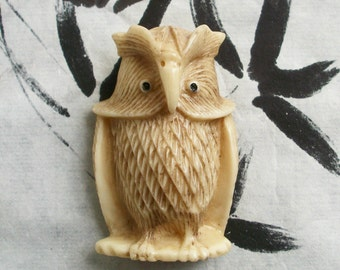 Netsuke - Wise Old Owl